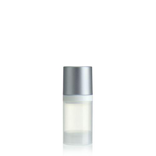 30ml airless pump natural/silver cap