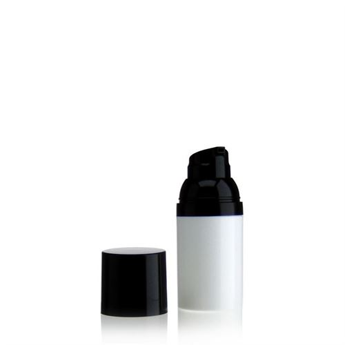 30ml airless pump white/black