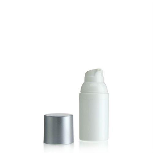 30ml Airless Dispenser white/silver cap