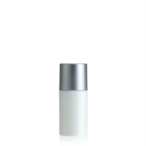 30ml airless pump white/silver cap