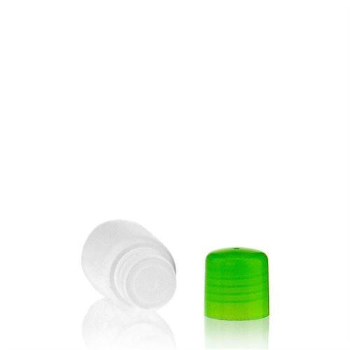 """30ml HDPE-Flasche """"Tuffy"""" grün mit Spritzeinsatz"""