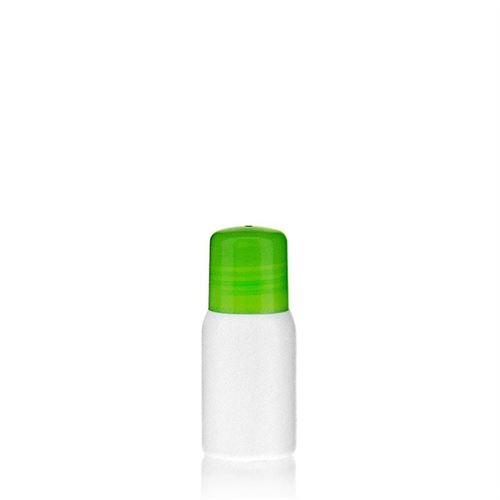 """30ml HDPE-flaske """"Tuffy"""" grøn med sprøjteindsats"""