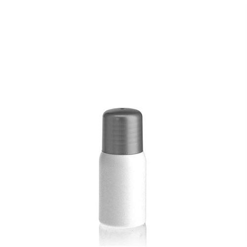 """30ml HDPE-flaske """"Tuffy"""" sølv med sprøjteindsats"""