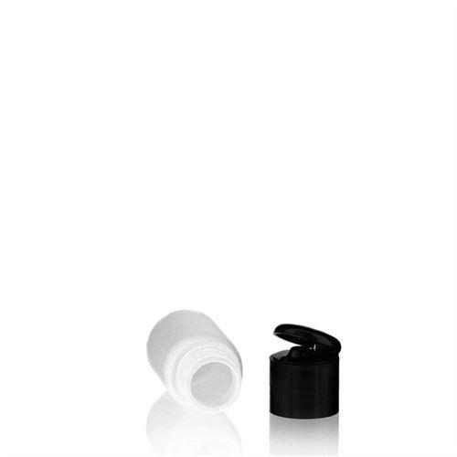 "30ml HDPE-flaske ""Tuffy"" sort, med klaplåg"
