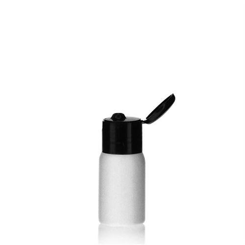 "30ml HDPE-fles ""Tuffy"" zwart met scharnier dop"