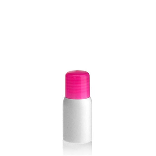 "30ml HDPE bottle ""Tuffy"" pink with dispensing tip"