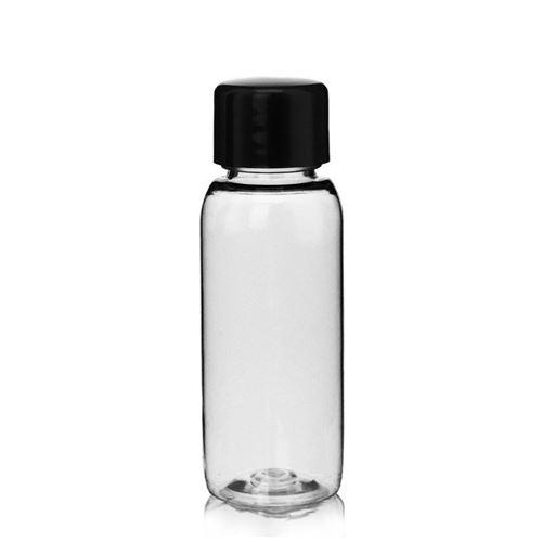"""30ml PET bottle """"Pegasus"""" black screw cap"""