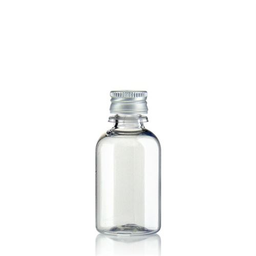 "30ml PET-Flasche-klar ""Easy Living"" mit Aluminiumverschl."
