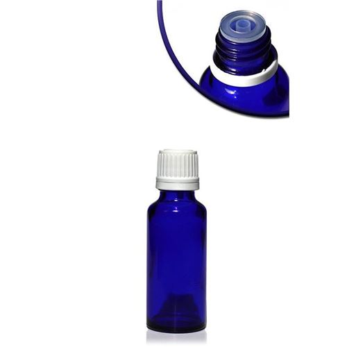 30ml blaue Medizinflasche mit Tropfverschluss