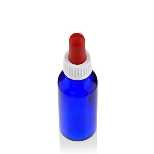 30ml blauw medicijn flesje met pipet