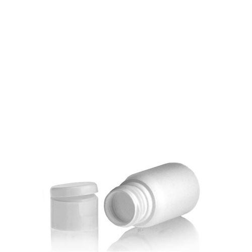 """30ml bottiglia HDPE """"Tuffy"""" bianco con tappo Flip top"""