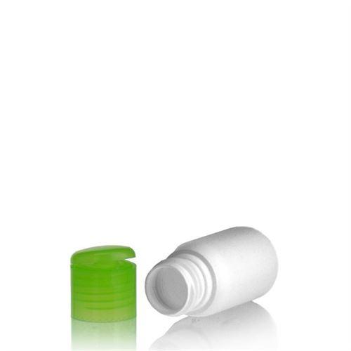 """30ml bottiglia HDPE """"Tuffy"""" verde con tappo Flip top"""