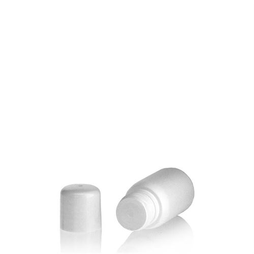 "30ml bouteille HDPE ""Tuffy"" blanc avec doseur"
