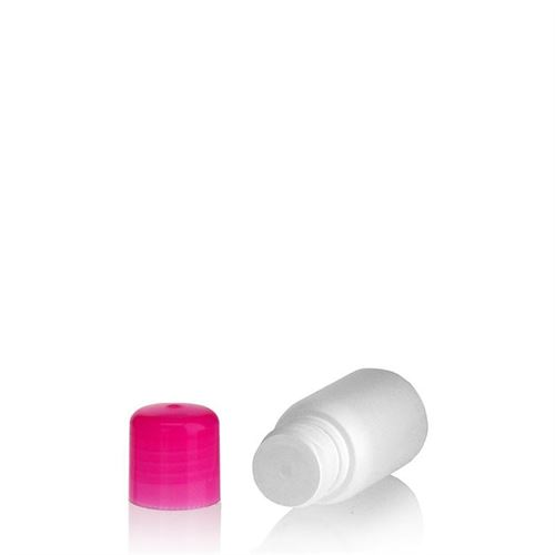 "30ml bouteille HDPE ""Tuffy"" rose avec doseur"