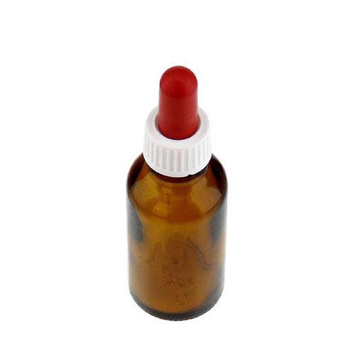 30ml braune Medizinflasche mit Pipettenmontur