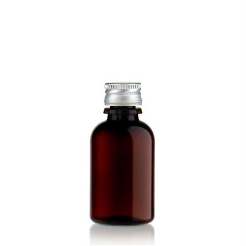 "30ml brown PET bottle ""Easy Living"" with screw cap"