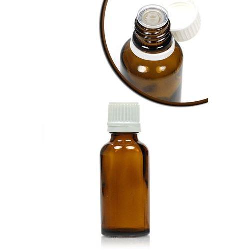 30ml brun medicinflaske, med dråbetæller