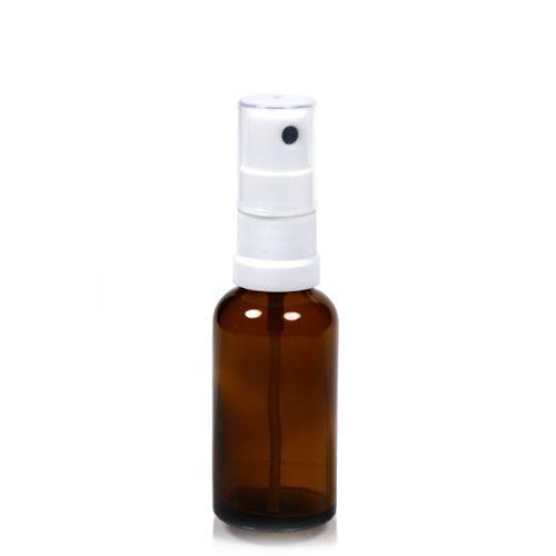 30ml brun medicinflaske, med sprayhoved