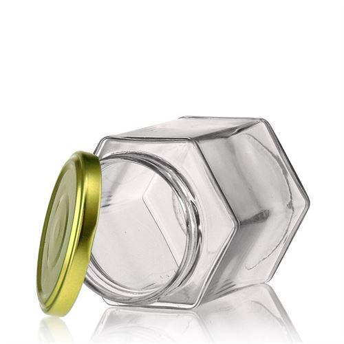 324ml sexkantig glasburk, med Twist Off 66