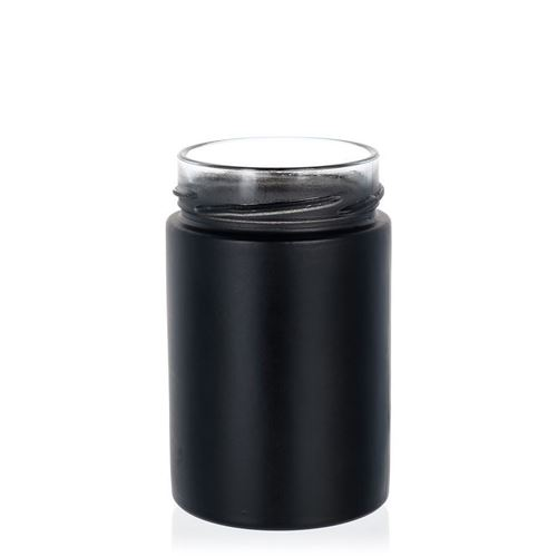 """327ml pot créateur """"Aurore"""" noir, couv. blanc"""