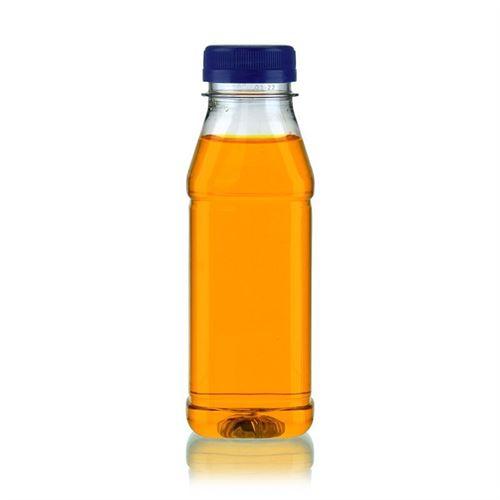 "330ml Bottiglia PET a collo largo ""Milk and Juice Carree"" blu"