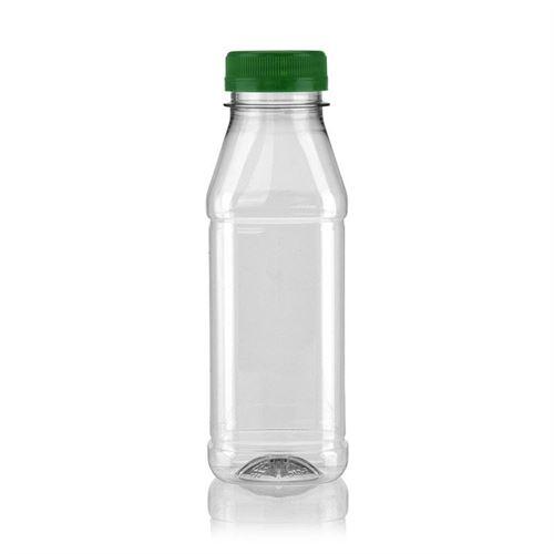 "330ml Bottiglia PET a collo largo ""Milk and Juice Carree"" verde"
