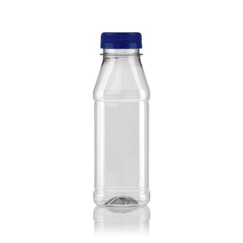 "330ml PET Weithalsflasche ""Milk and Juice Carree"" blau"