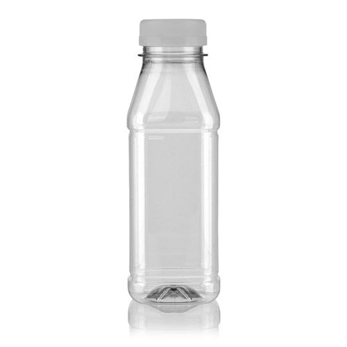 "330ml PET Weithalsflasche ""Milk and Juice Carree"" weiß"