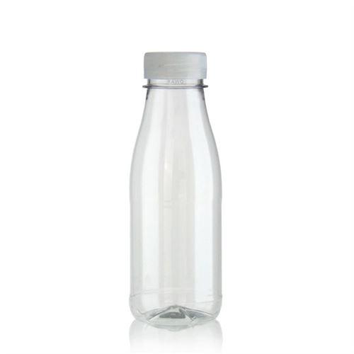 """330ml Botella PET con gollete ancho """"Milk and Juice"""" blanco"""