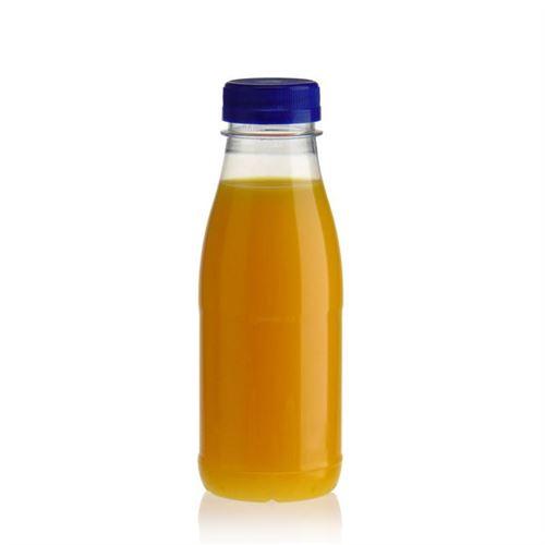 """330ml PET Weithalsflasche """"Milk and Juice"""" blau"""