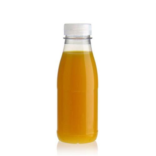 """330ml PET Weithalsflasche """"Milk and Juice"""" weiß"""