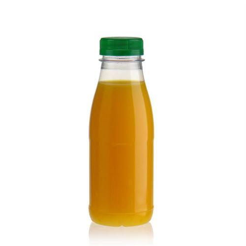 """330ml PET flaske med bred hals """"Milk and Juice"""" grøn"""
