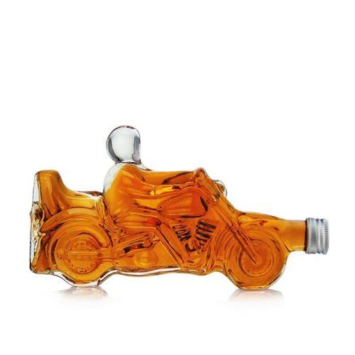 """350ml Bottiglia in vetro chiaro """"Motocicletta"""""""