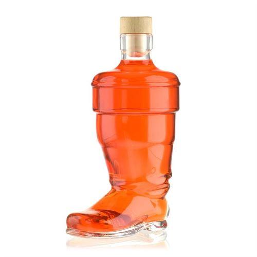 "350 ml glasflaske ""Støvle"", klar"
