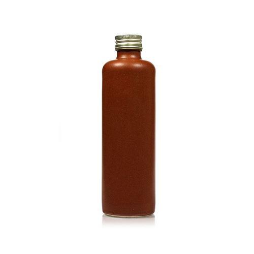 """350ml Bottiglia in Ceramica con tappo a vite """"marrone-natura"""""""