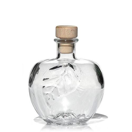 """350ml Bottiglia in vetro chiaro """"Mela"""""""