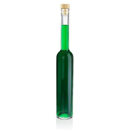 """350ml flaske i klart glas """"Platina"""""""