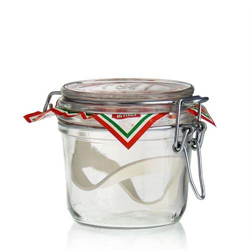 """350ml vasetto in vetro con chiusura meccanica """"Rocco"""""""