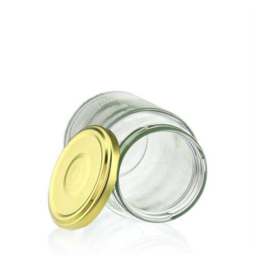375ml vasetto in vetro rotondo con tappo a vite Twist Off 66