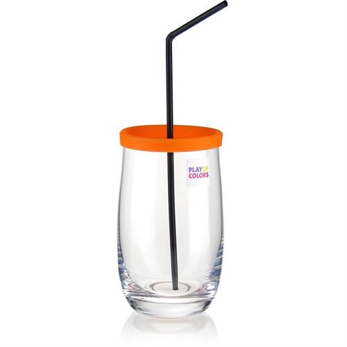 """380ml bicchiere """"Play of Colours"""" arancione"""