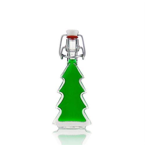 """40ml botella de vidrio transparente """"Arbol de Navidad"""""""