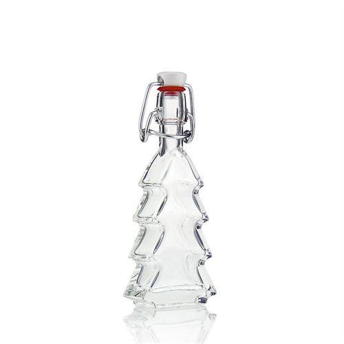 """40ml flaske i klart glas """"Juletræ"""""""
