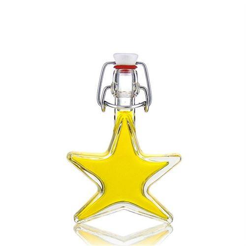 """40ml flaske i klart glas """"Stjerne"""""""