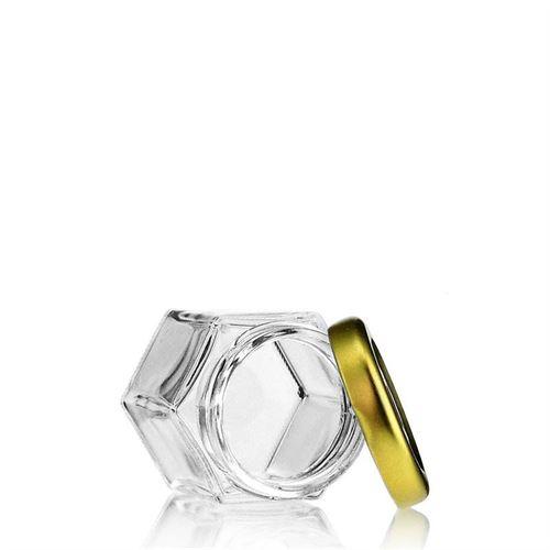 47ml vasetto in vetro esagonale con tappo a vite Twist Off 43