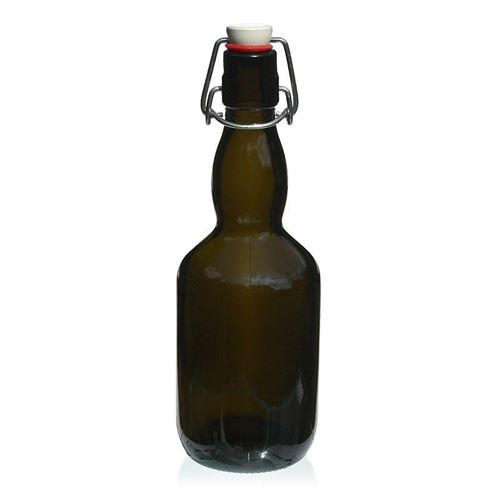 "500ml Bottiglia verde antico per birra ""Winner"""
