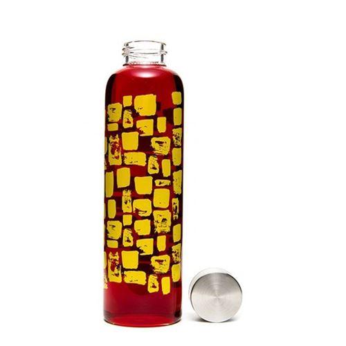 """500ml glas drikkeflaske """"gul flisebelægning"""""""