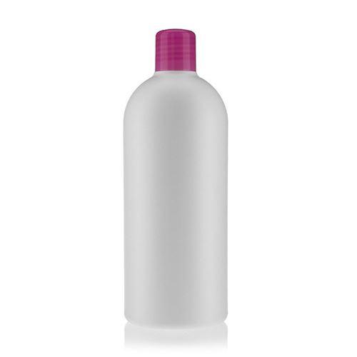 """500ml HDPE-flaske """"Tuffy"""" lyserød med sprøjteindsats"""