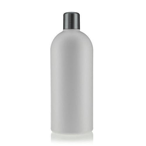 """500ml HDPE-flaske """"Tuffy"""" sølv med sprøjteindsats"""