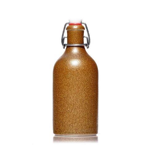 500ml Keramikflaske med patentlåg, krystalbrun
