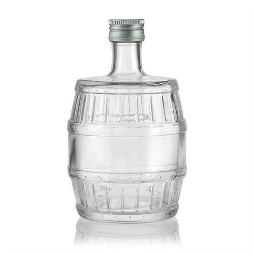 "500ml Klarglasflasche ""Fass"""